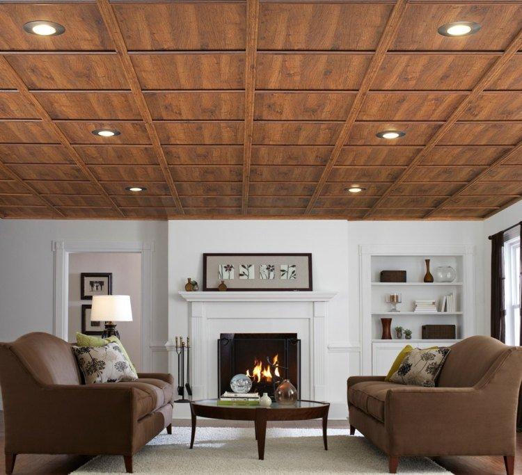 faux-plafond-suspendu-imitation-bois
