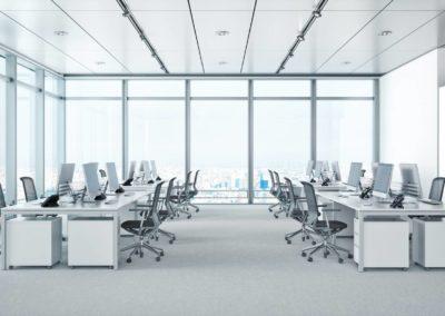 Modern Office Interior In Skyscraper