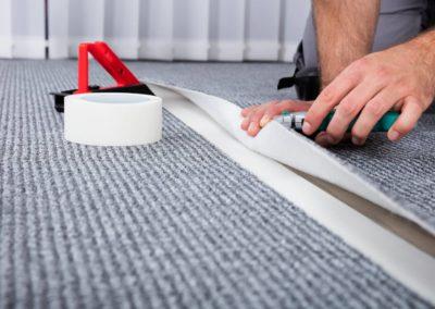 Carpenter's Hand Lying Carpet