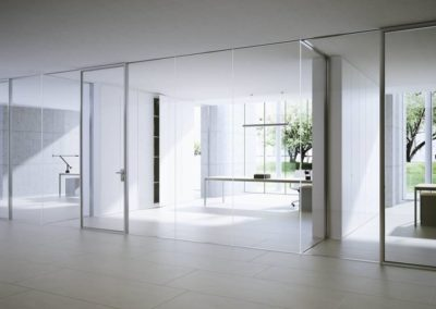 Fixed partition / glass / acoustic / professional